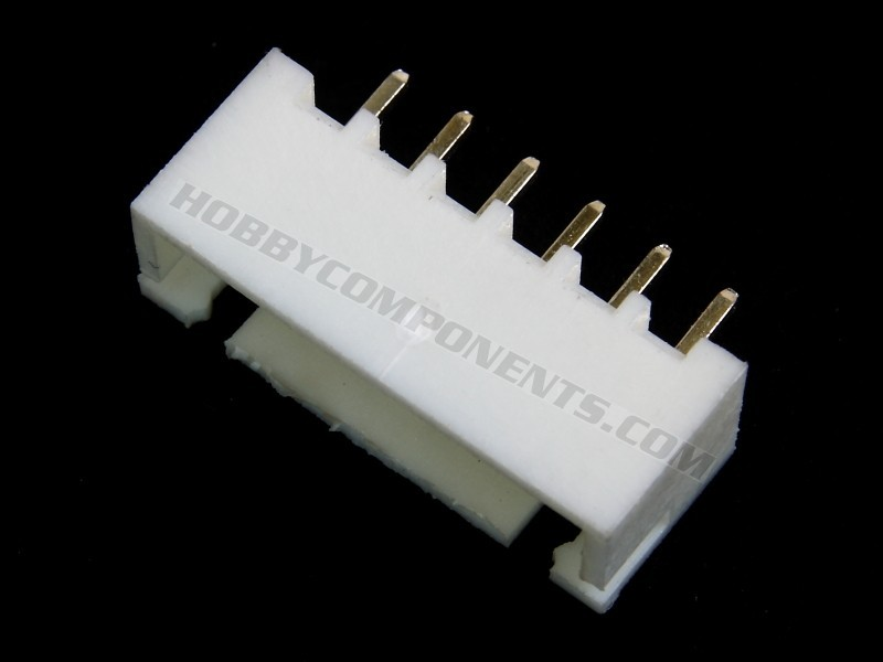 6-pin 2.54mm pitch connector plug wire jack