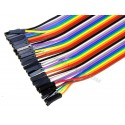 20cm Solderless Female to Female DuPont Jumper Breadboard Wires (40-Cable Pack)