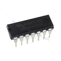 74HC00 Quad 2 Input NAND (DIP 14) (Pack of 5)