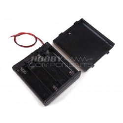 Enclosed 4AA Battery Box with built in on-off switch