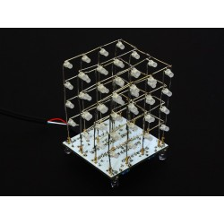 Hobby Components 4x4x4 64 LED cube kit (Available in various colours with White PCB base).
