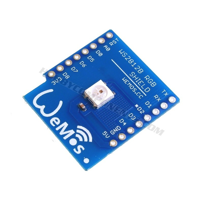 WeMos D1 Mini WS8212 RGB LED Shield