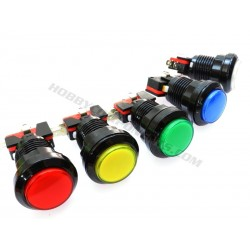 Arcade Style 33mm Illuminated LED Button (Various Colours)