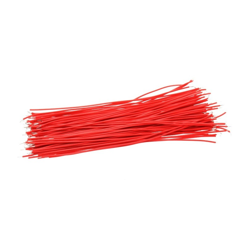 5cm Tinned Breadboard Jumper Cable Wires (Red)