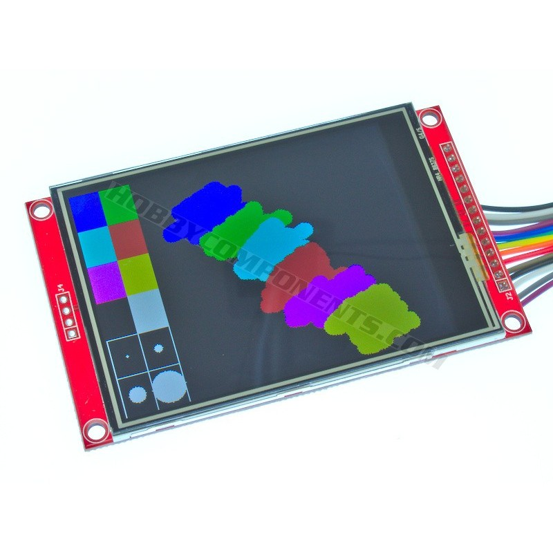 3.2 inch Colour TFT Module with Resistive Touch (cable not included)