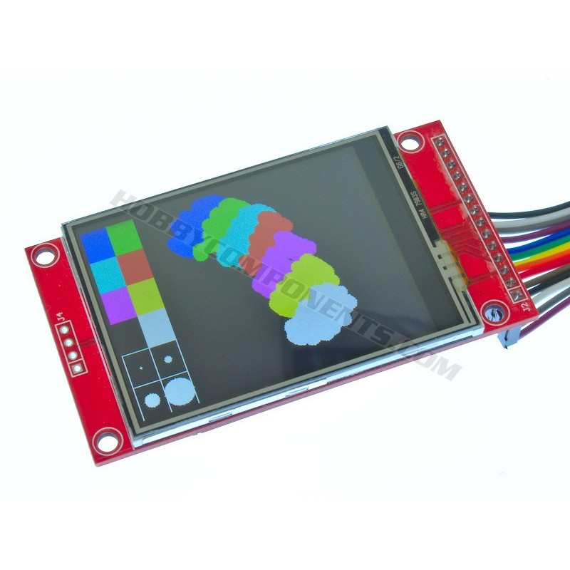 2.4 inch Colour TFT Module with Resistive Touch (cable not included)