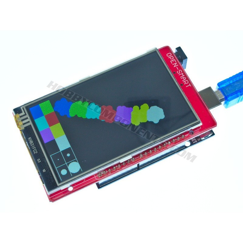 3.2 inch Colour TFT Arduino Compatible Shield with Resistive Touch (Uno not included)