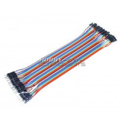20cm Male to Female Solderless DuPont Jumper Breadboard Wires (40 cable pack)