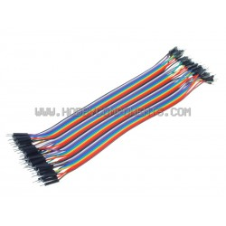 Arduino 20cm Male to Male Solderless Jumper Breadboard Wires (40 cable pack)