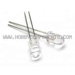 5mm LED - White (100 Pack)