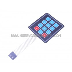 3 x 4 12 Key Matrix Membrane Keypad