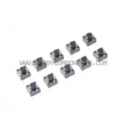 Mini DIY Part 4-Pin Tact Switches (10 Pack)