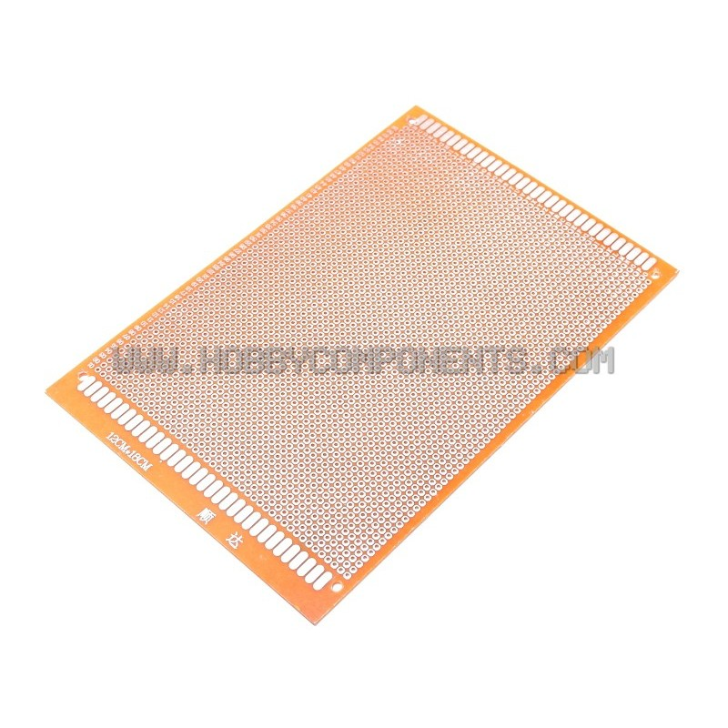 Double-Sided Glass Fiber Prototyping PCB Universal Board (12 x 18)