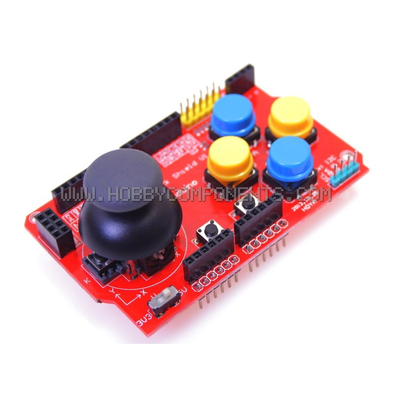 Funduino Joystick Shield V1 Expansion Board - Arduino Compatible