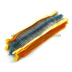 Mega Pack - 50 kinds of common 1/4W Resistors – 2500 Pack!