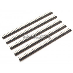 "0.1"" 2.54mm 40way SIL turned pin M-F headers (Pack of 5)"